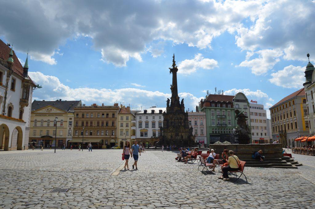 Olomouc, Upper Square, Czech Republic