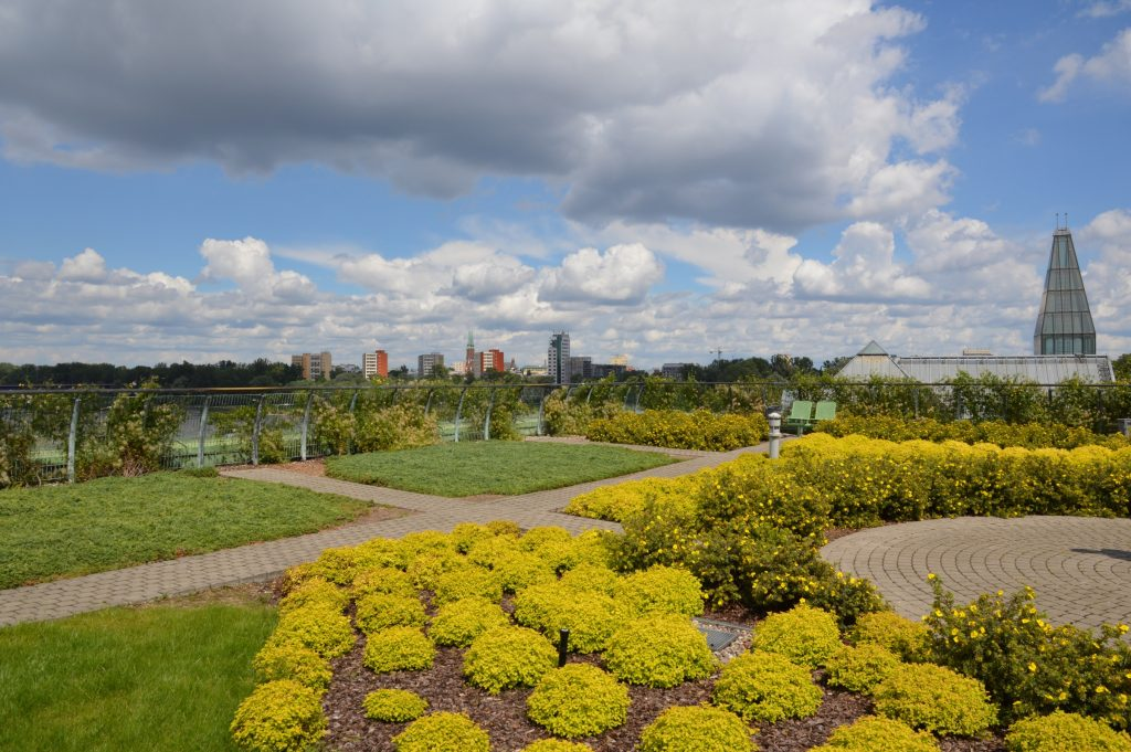 Warsaw University Library Park, Poland