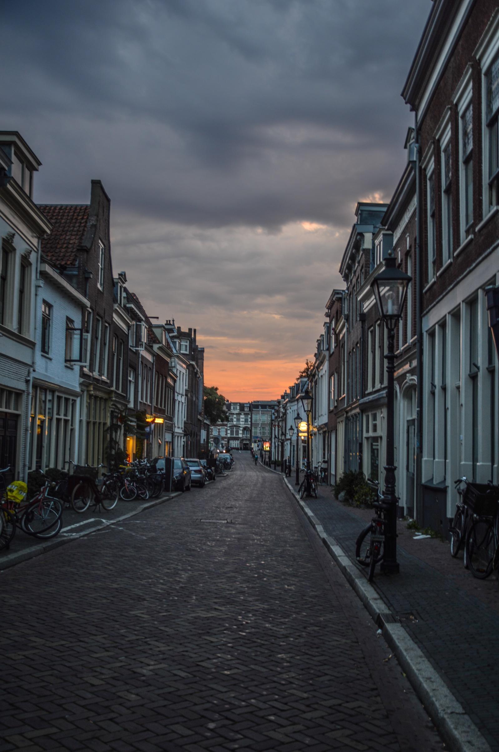Sunset in Utrecht, the Netherlands