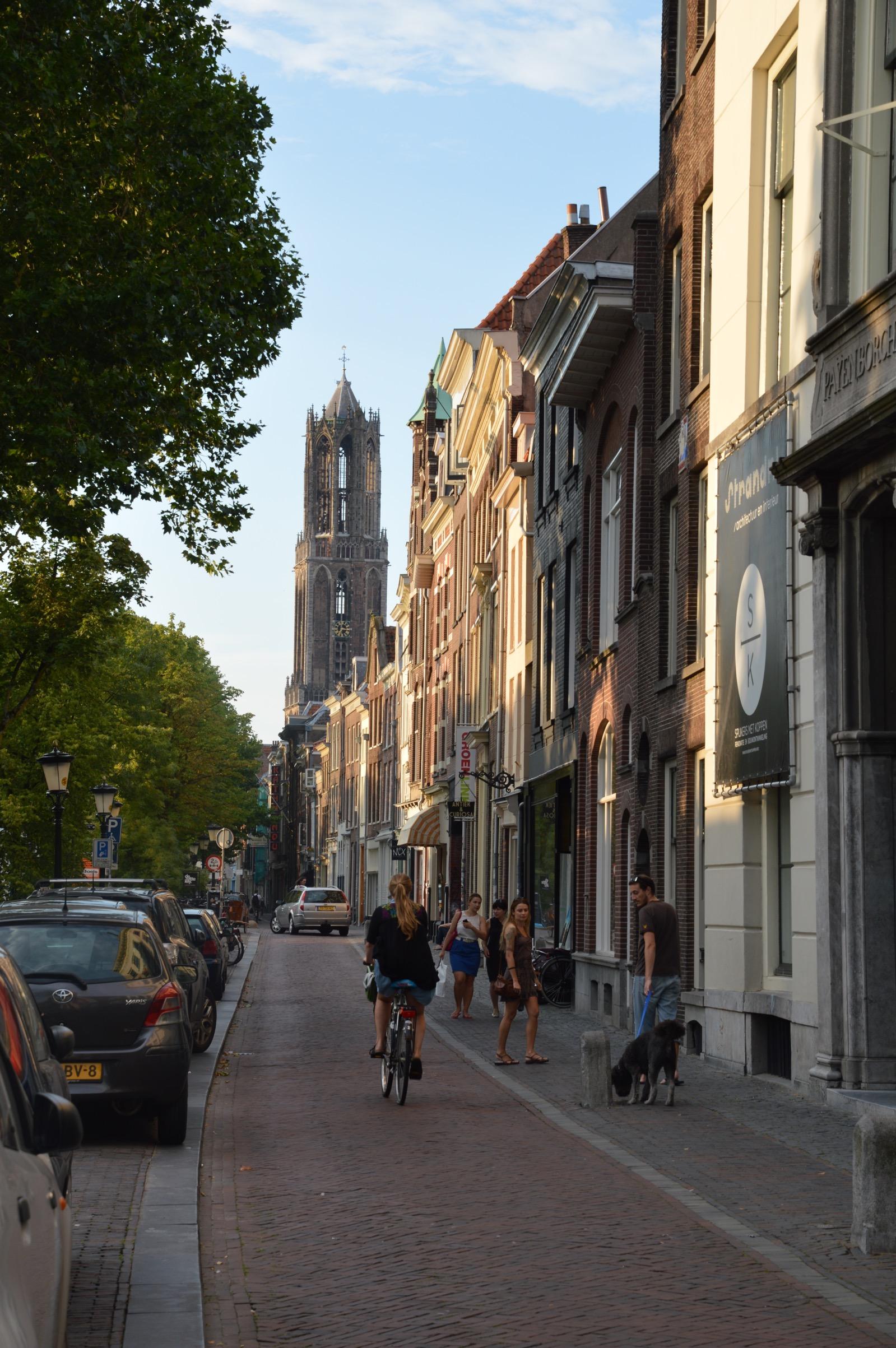Dom Tower, Oudegracht, Utrecht, the Netherlands