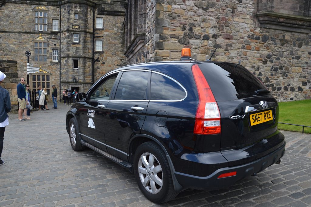Mobility Vehicle at Edinburgh Castle