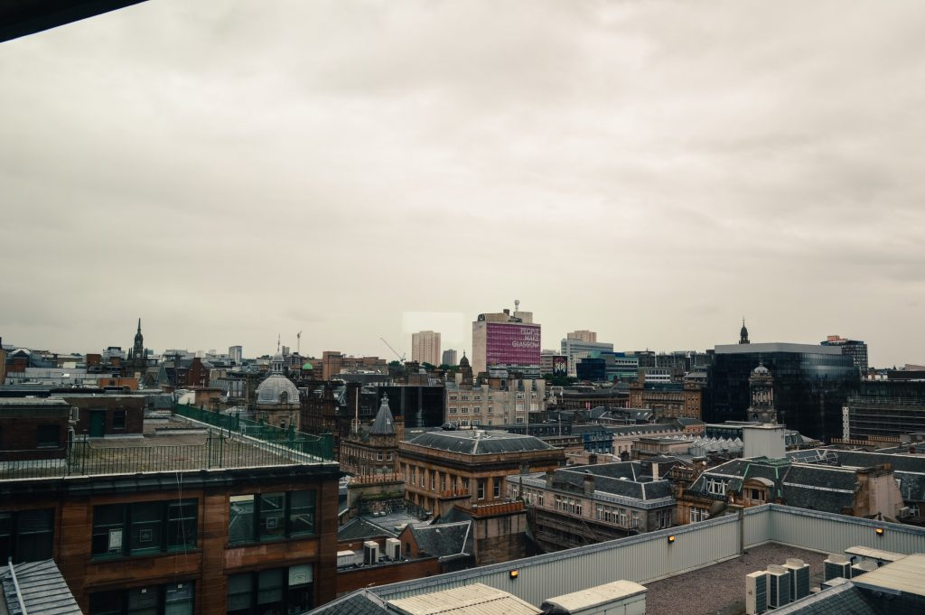 View of Glasgow from The Lighthouse, Scotland