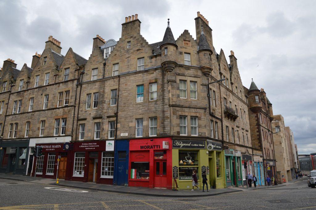 Corner of St. Mary's Street and Holyrood Road, Edinburgh, Scotland