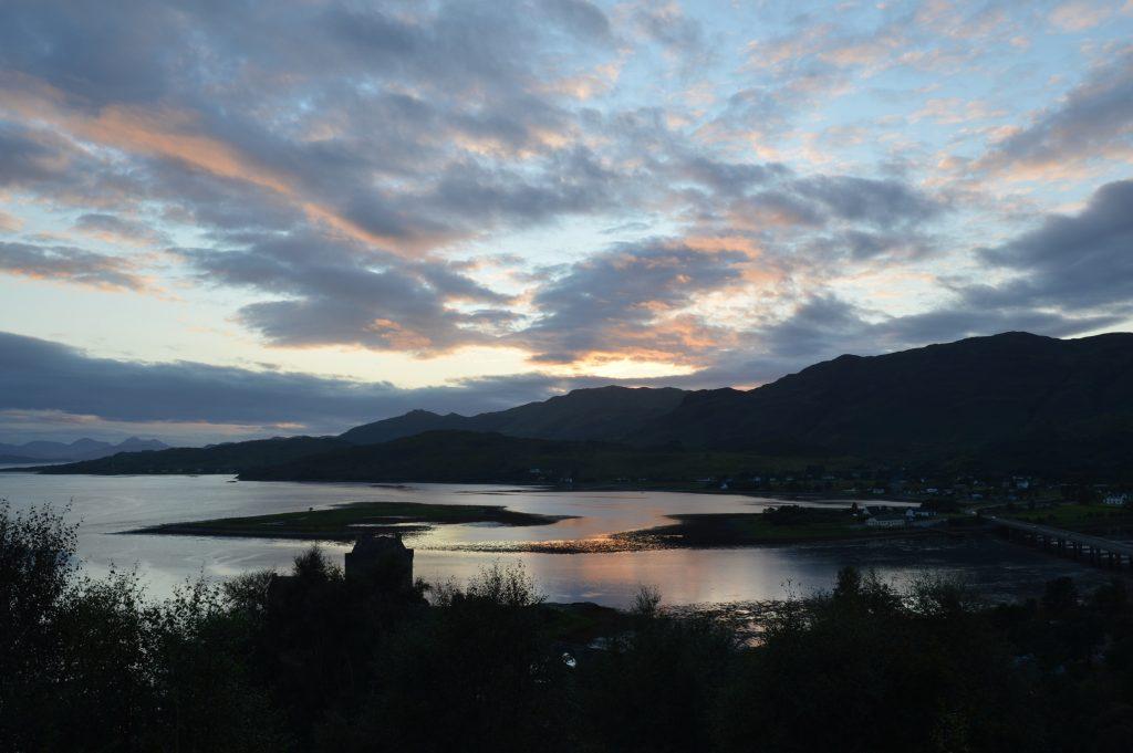 Sunset over Eilean Donan Castle, Dornie, Scotland