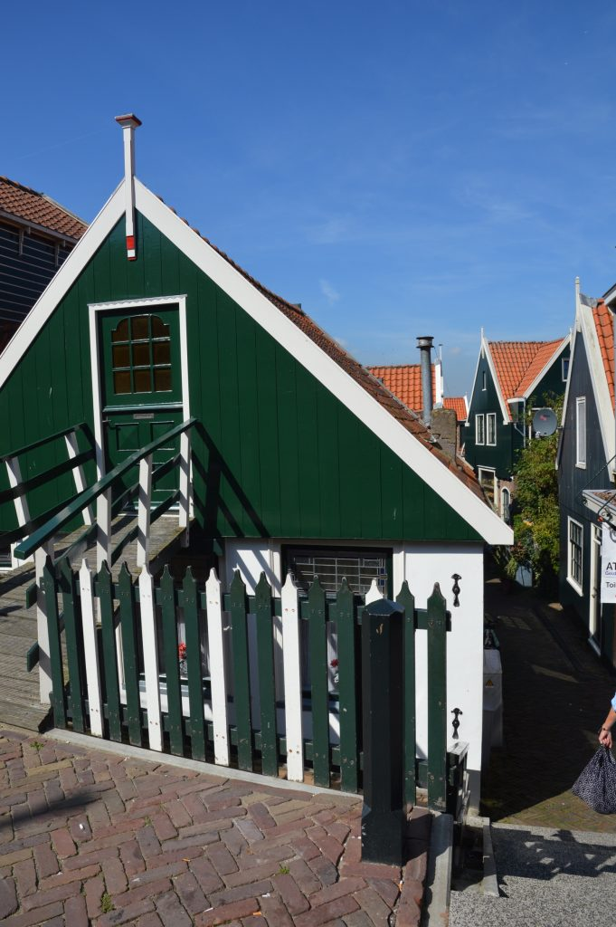 Old traditional house in Volendam,the Netherlands