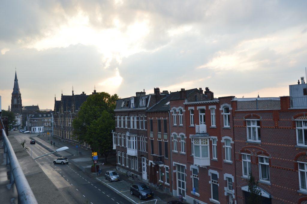 View down Sint Maartenslaan, Maastricht, the Netherlands