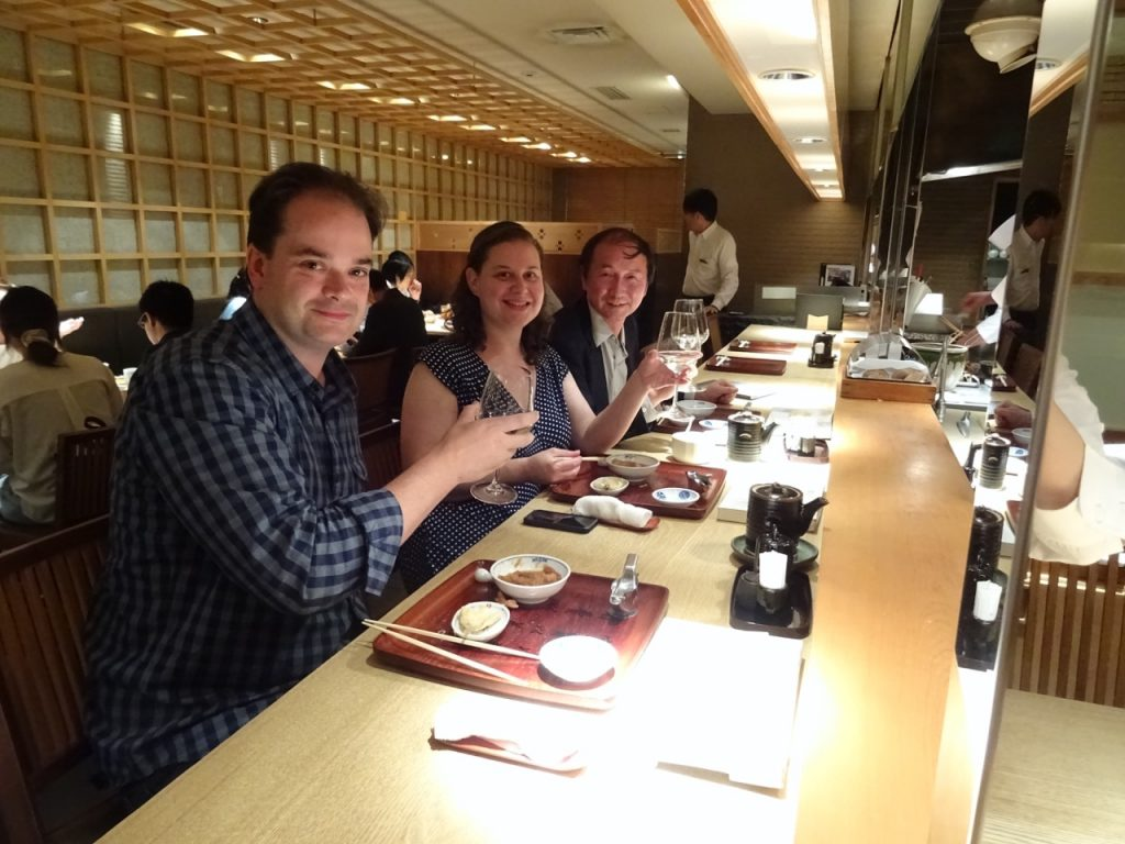 At dinner with Dr. Inoue, Tokyo, Japan
