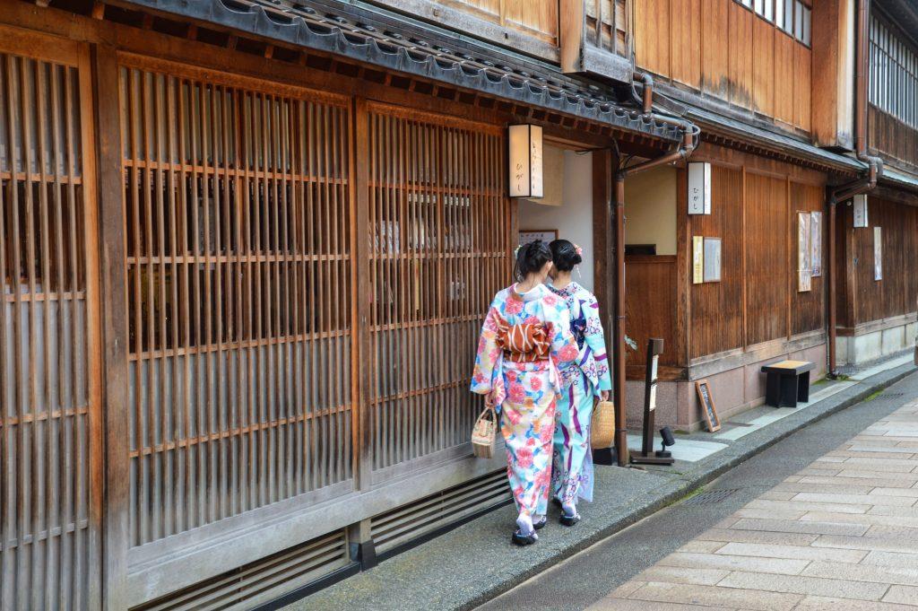 Geisha (?) in Kanazawa, Japan
