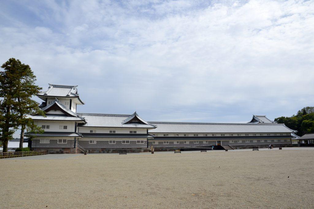 Gojukken Nagaya storehouse at Kanazawa Castle, Japan