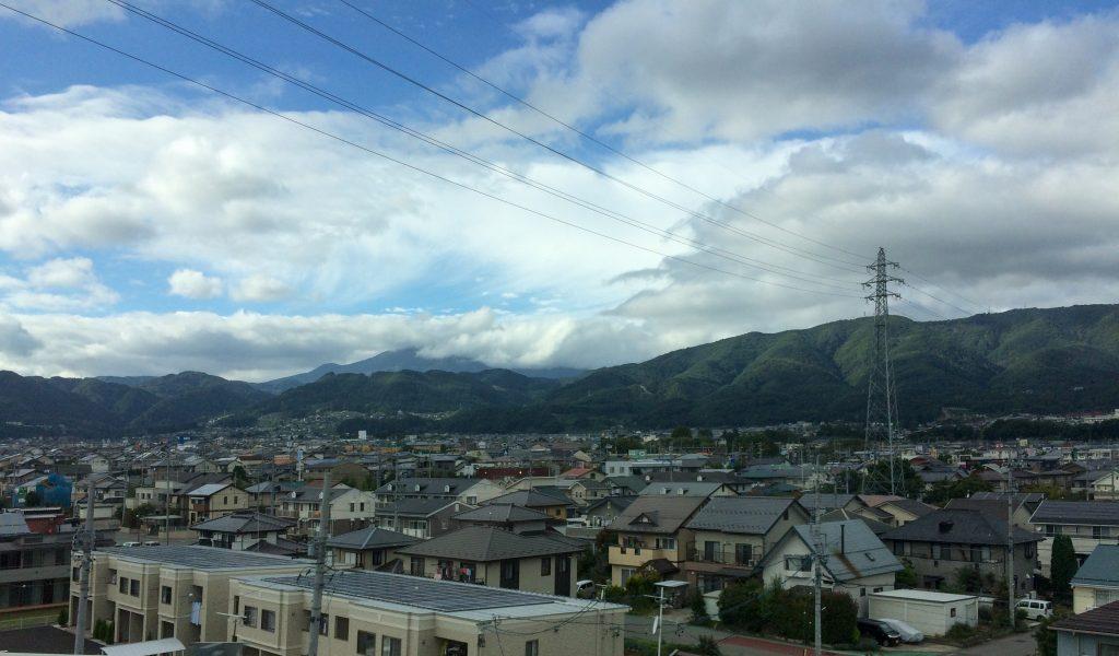 View from Shinkansen train from Tokyo to Kanazawa, Japan