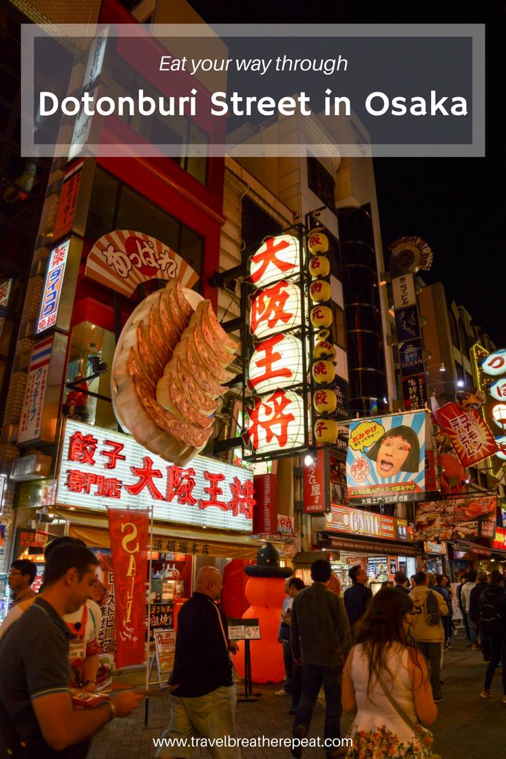 Eat your way through Dotonburi Street in Osaka, Japan