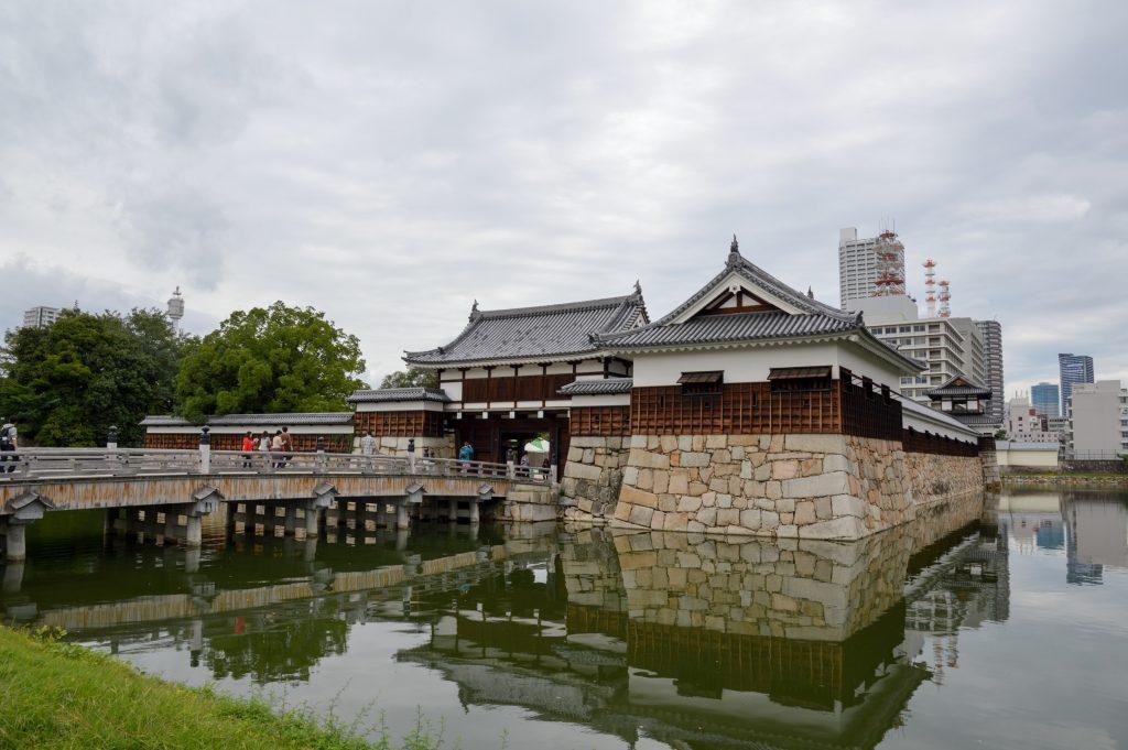 Hiroshima Castle gate, Japan