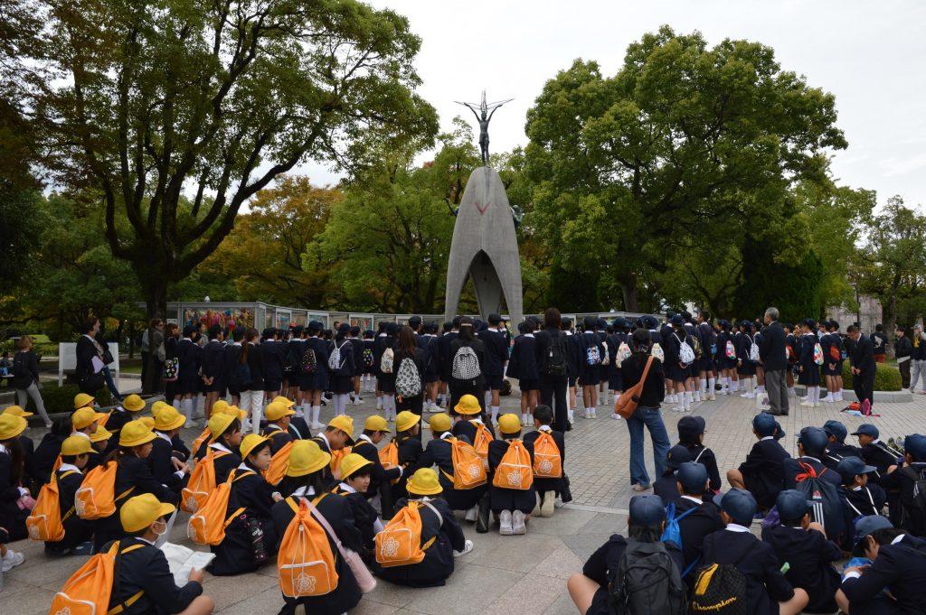 Children's Peace Monument in Hiroshima Peace Memorial Park, Japan