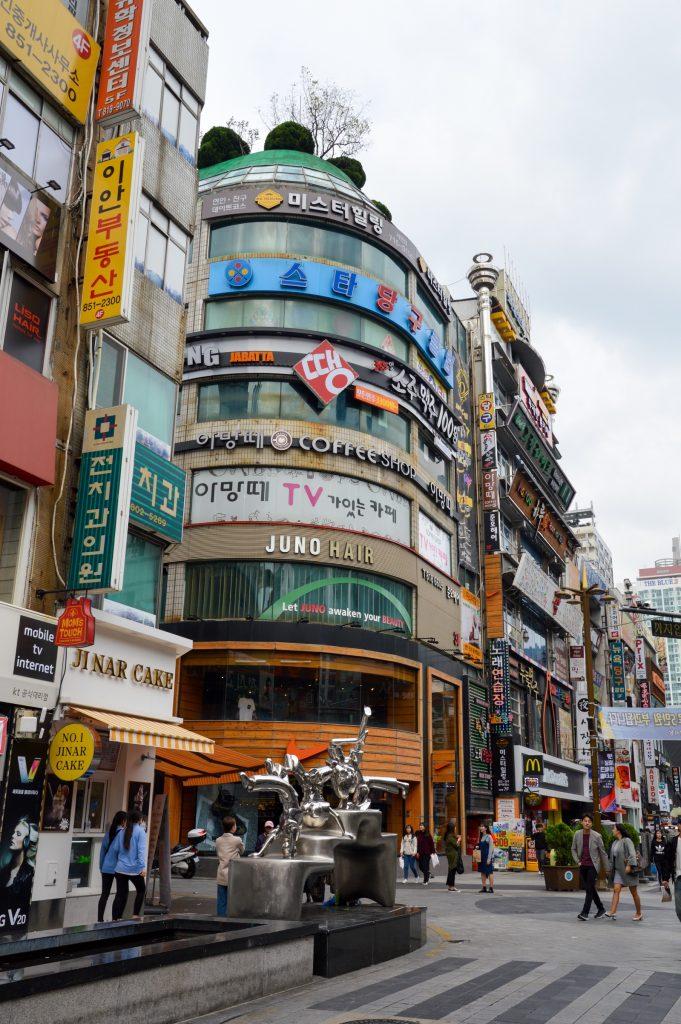 Streets of Seomyeon, Busan, South Korea