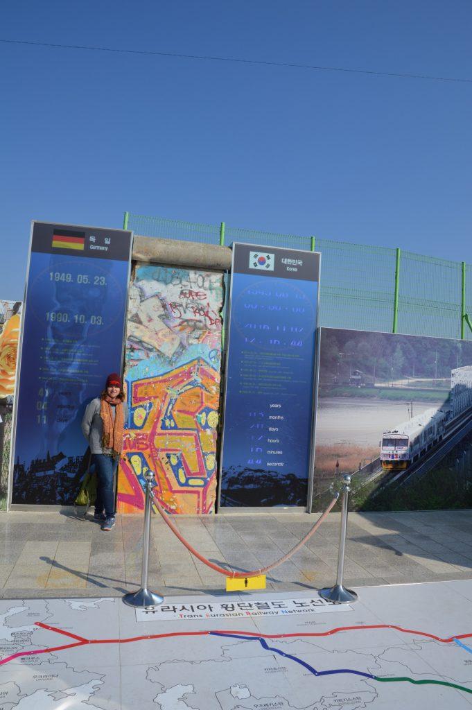 Piece of the Berlin Wall at Dorasan Station, DMZ