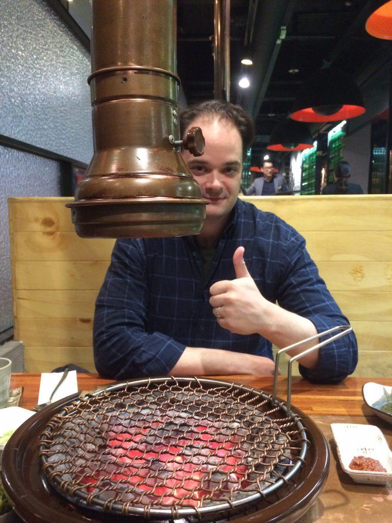 Korean BBQ at Maple Tree House, Seoul, South Korea