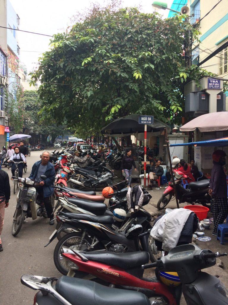 Motorbike parking, Hanoi, Vietnam
