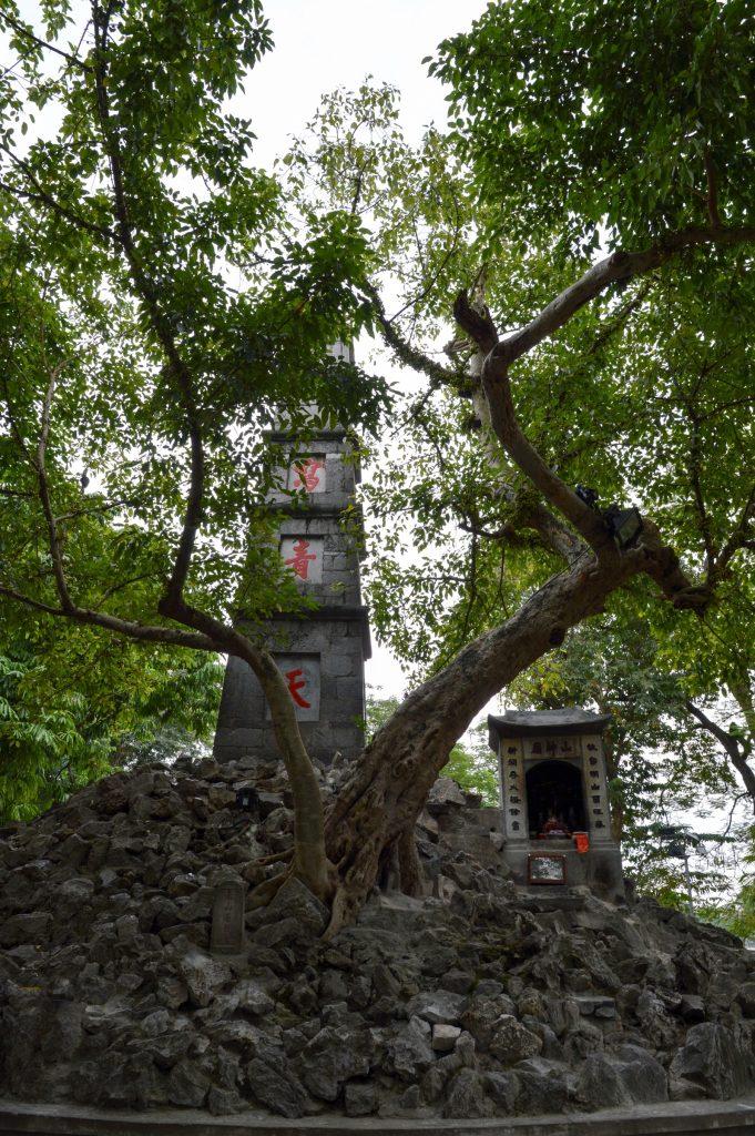 Shrine outside Ngoc Son Temple, Hanoi, Vietnam