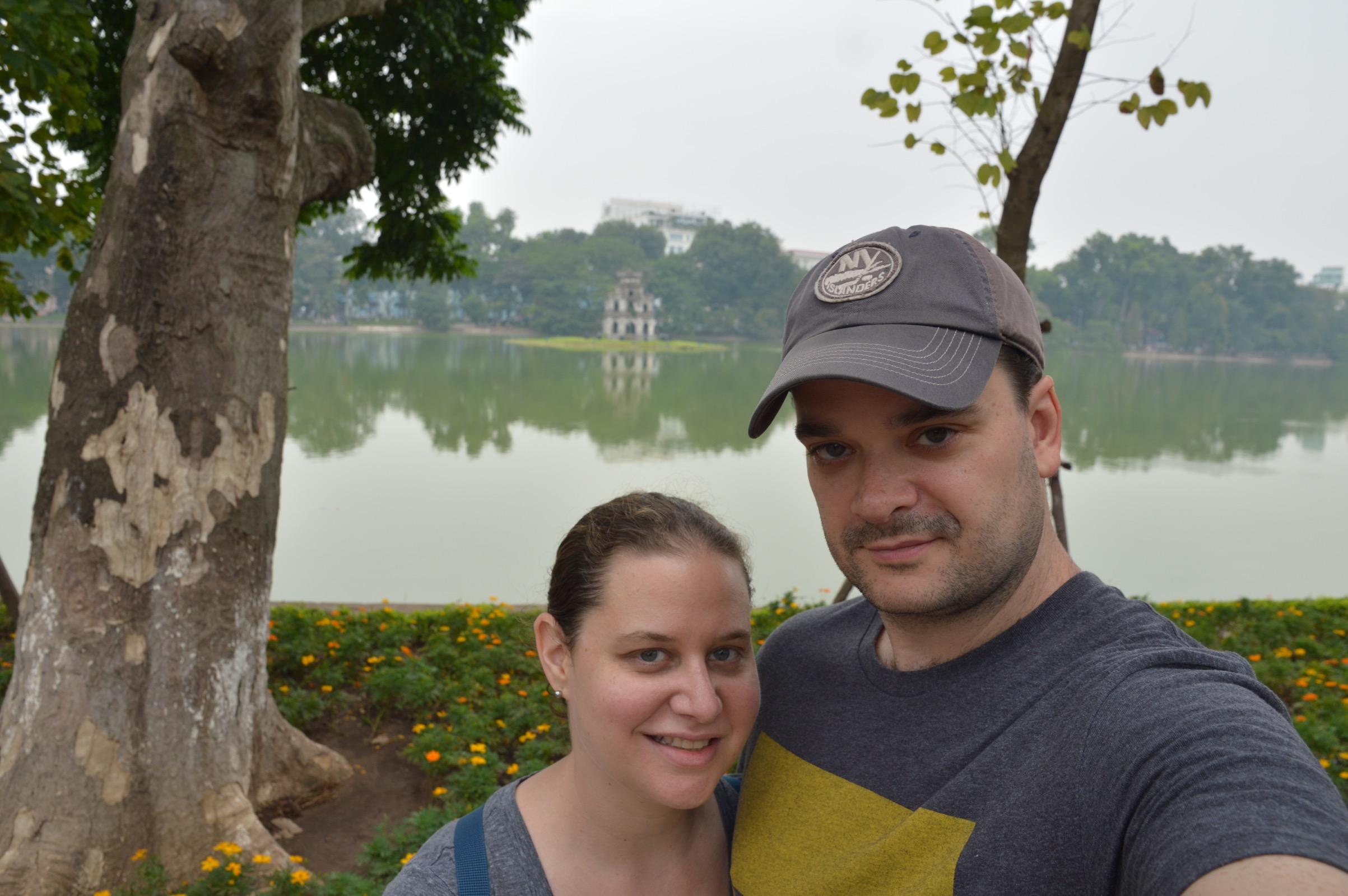 One longer stop on our world trip: Hoàn Kiếm Lake and Turtle Tower, Hanoi, Vietnam