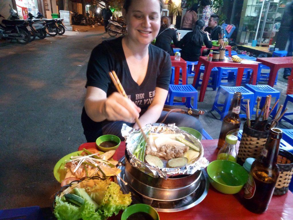 Making Vietnamese BBQ in Hanoi, Vietnam