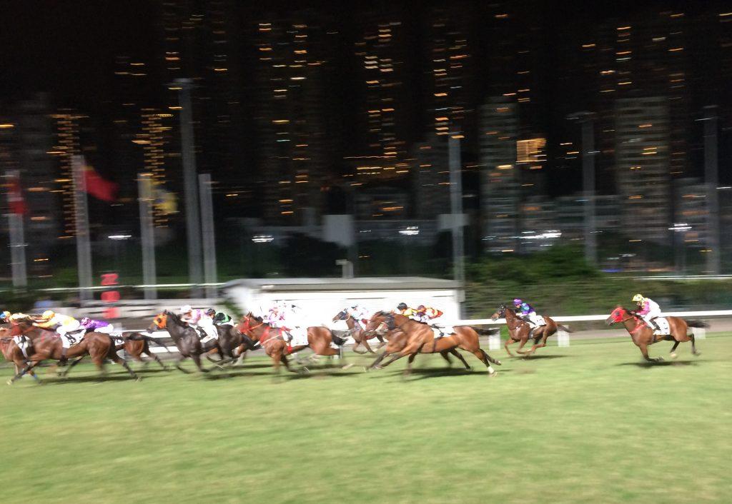 Happy Valley Racetrack in Hong Kong