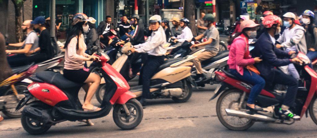 Traffic in Hanoi Old Quarter, Vietnam