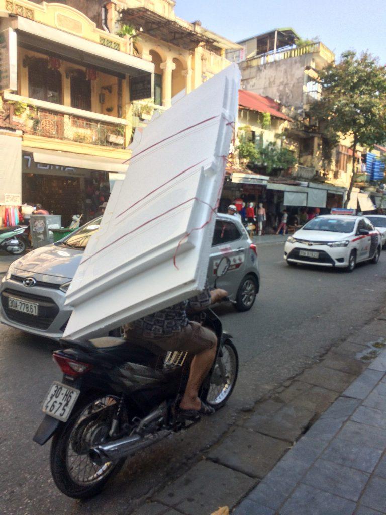 Motorbike with foam core, Hanoi, Vietnam