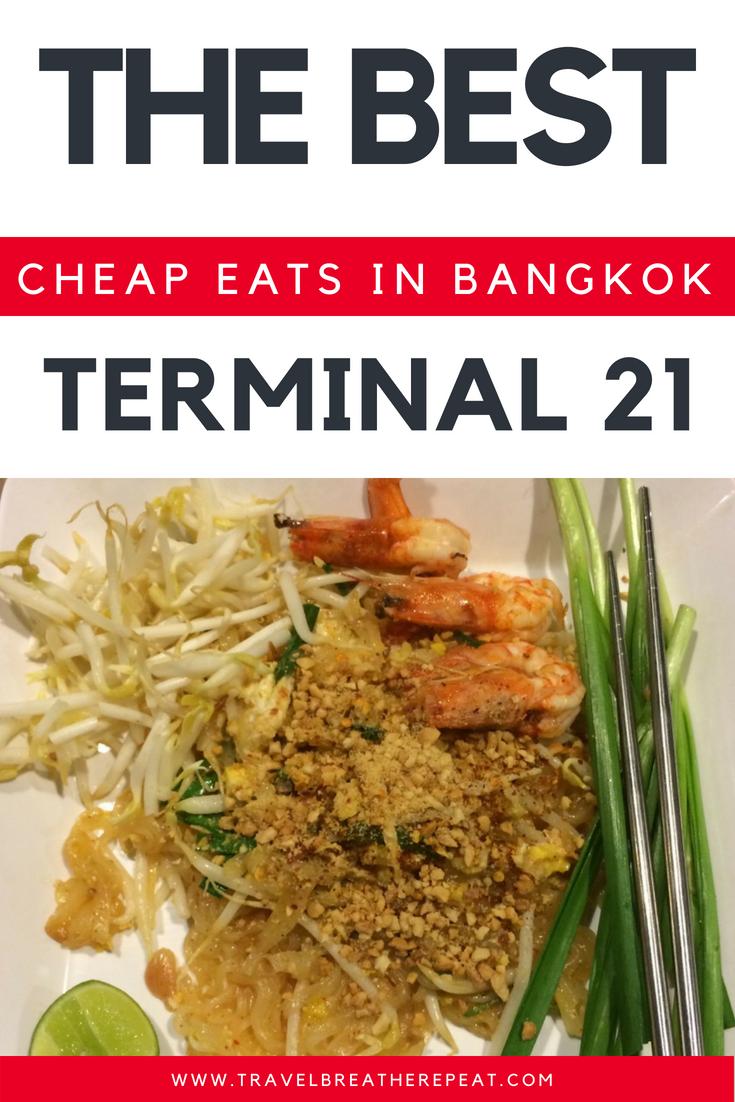 Best Bangkok cheap eats at Terminal 21 food court; #bangkok #thailand #asia #travel #budget #food
