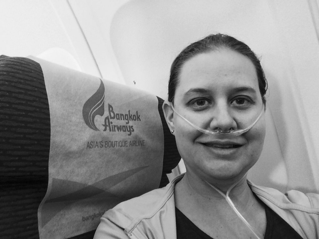 Flying with my portable oxygen concentrator