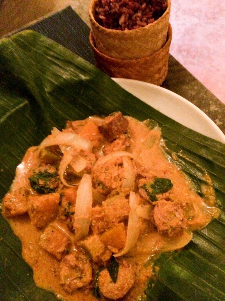 Sausage and pumpkin curry at Café Toui, Luang Prabang, Laos