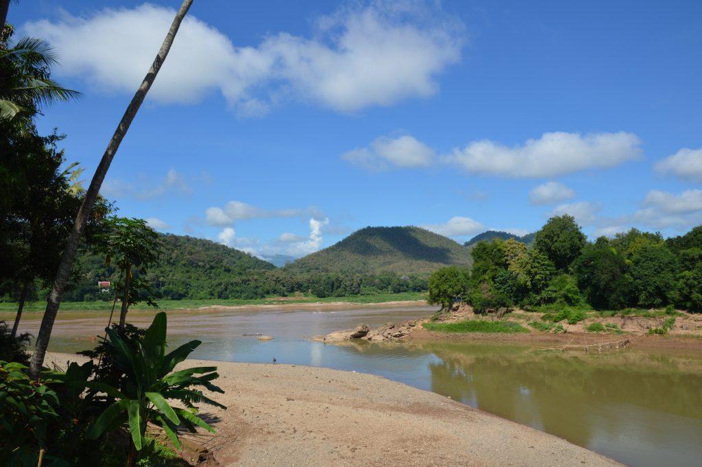 Where the Nam Khan meets the Mekong in Luang Prabang, Laos