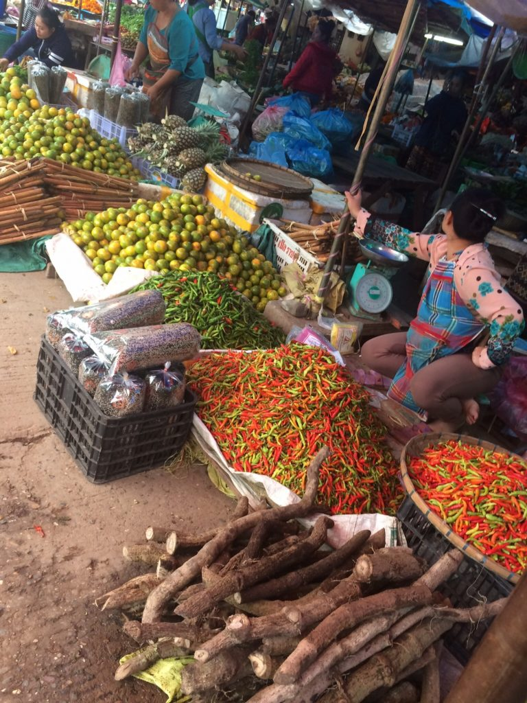 At the market in Luang Prabang, Laos