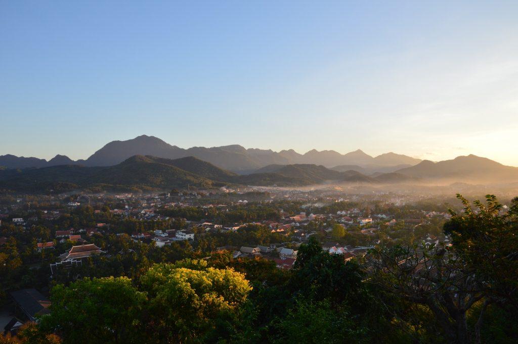View of Luang Prabang from Mt. Phousi, Laos
