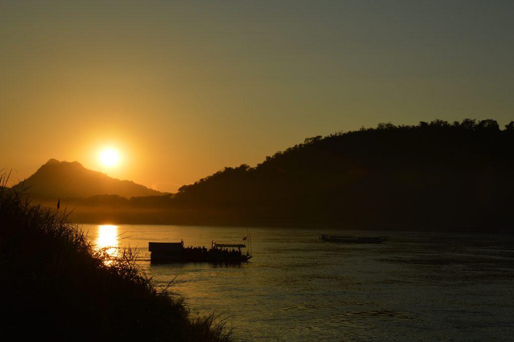 Sunset over the Mekong River, Luang Prabang, Laos