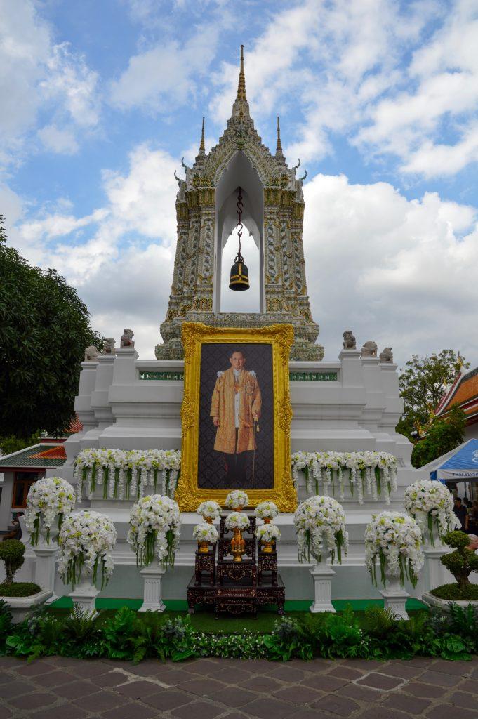 Memorial to the King at Wat Pho, Bangkok, Thailand