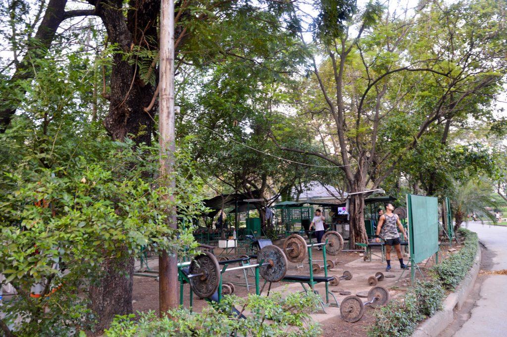 Exercise area in Lumphini Park, Bangkok, Thailand