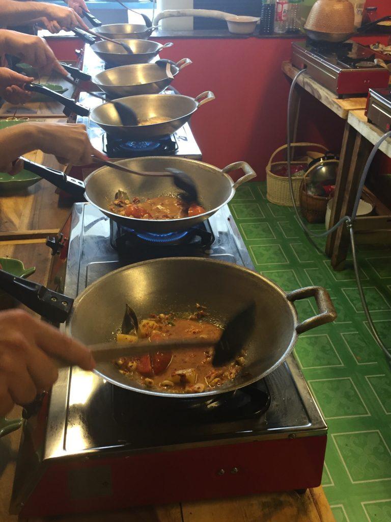 At Silom Thai Cooking School, Bangkok, Thailand