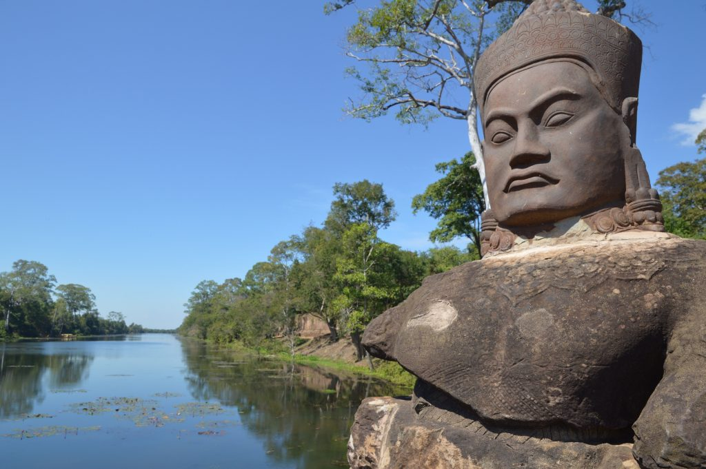 South Gate to Angkor Thom, Angkor Archaeological Park, Cambodia