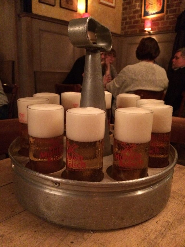 Kölsch at Brauhaus Pütz in Köln, Germany