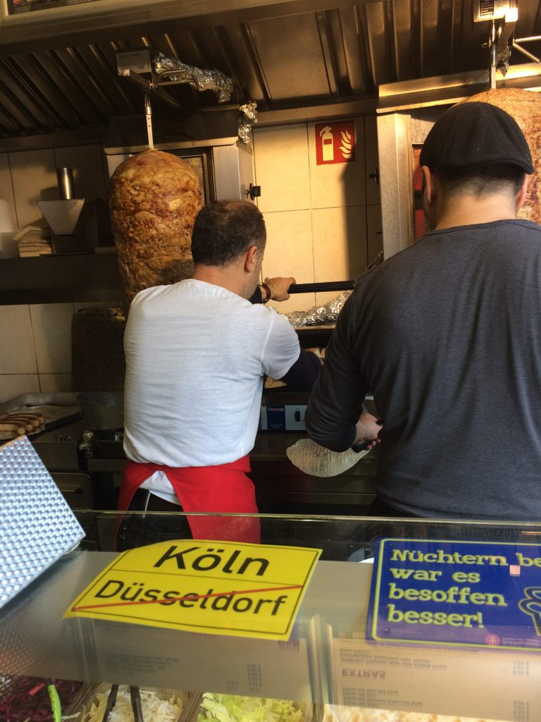 At one of our long-time favorite Döner Kebabs in Köln, Germany