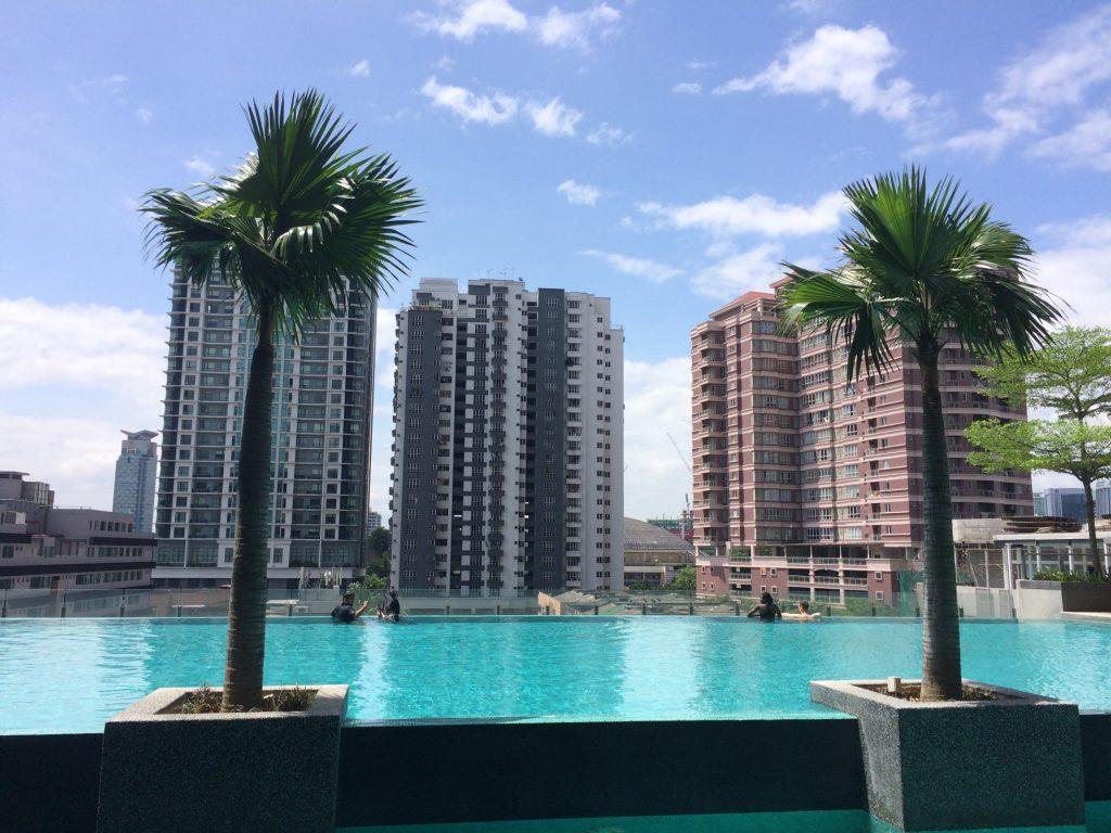 Pool view of Kuala Lumpur, Malaysia