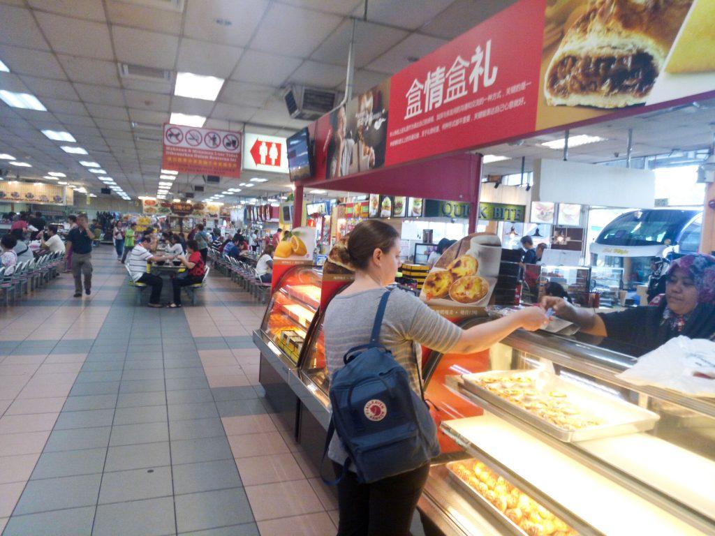 Getting snacks somewhere in Malaysia