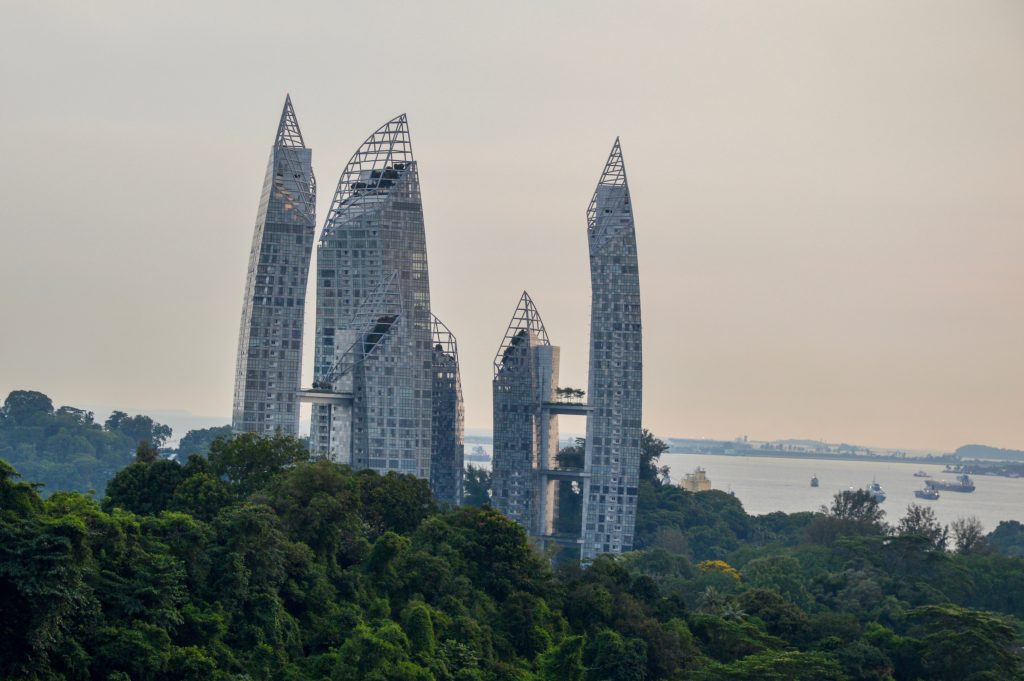 View of Keppel Bay Towers from Henderson Waves Bridge, Singapore