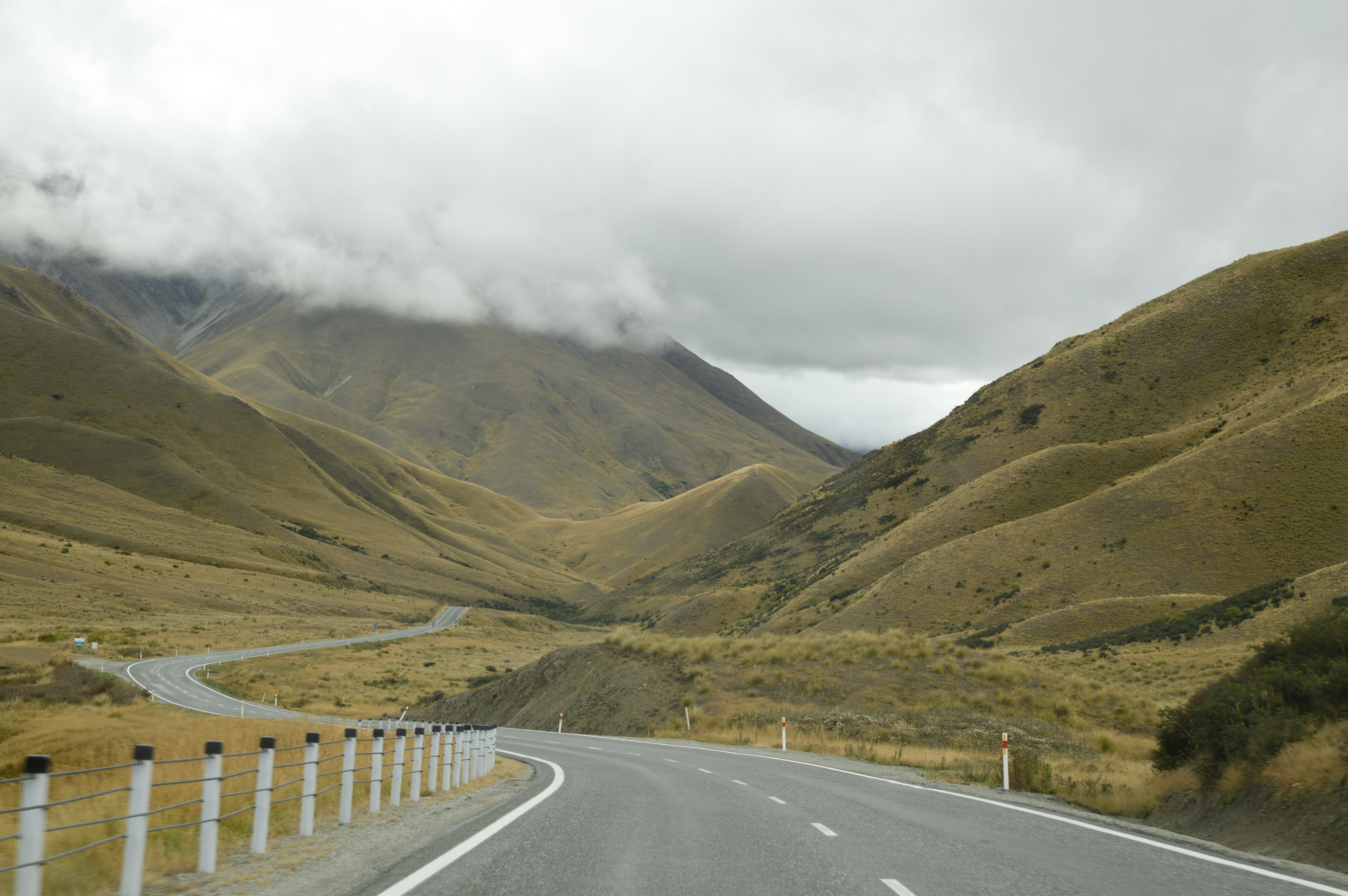 Driving to Twizel, New Zealand