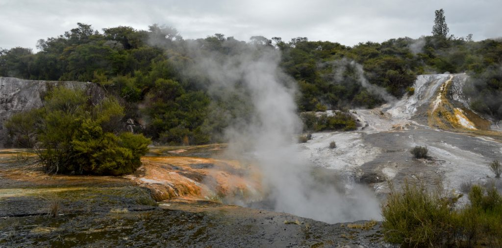Orakei Korako Geothermal Park and Cave, New Zealand