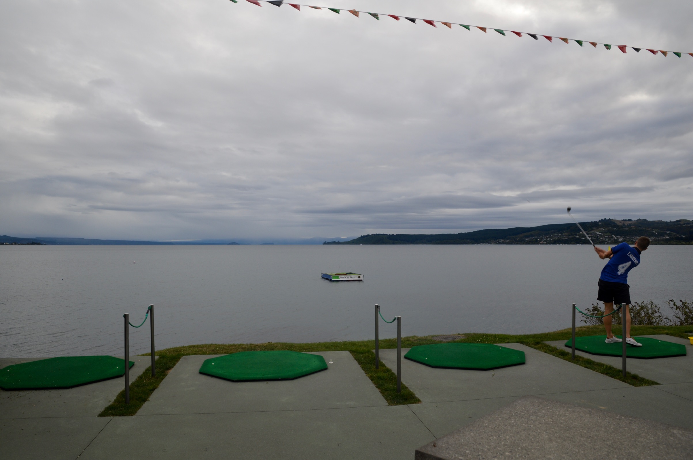 Hole in One on Lake Taupo, New Zealand