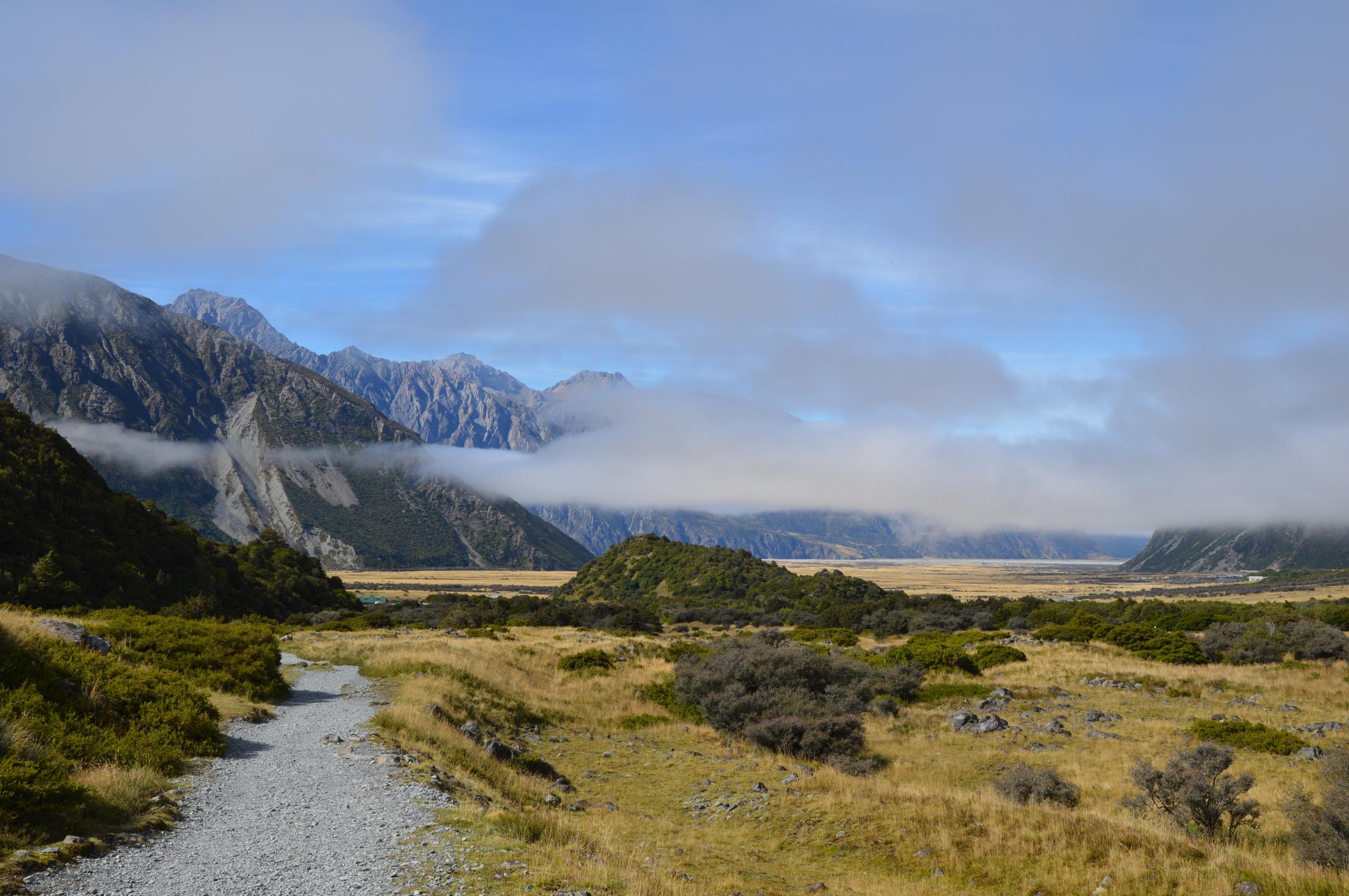 Kea Point track, Aoraki/Mount Cook National Park, New Zealand
