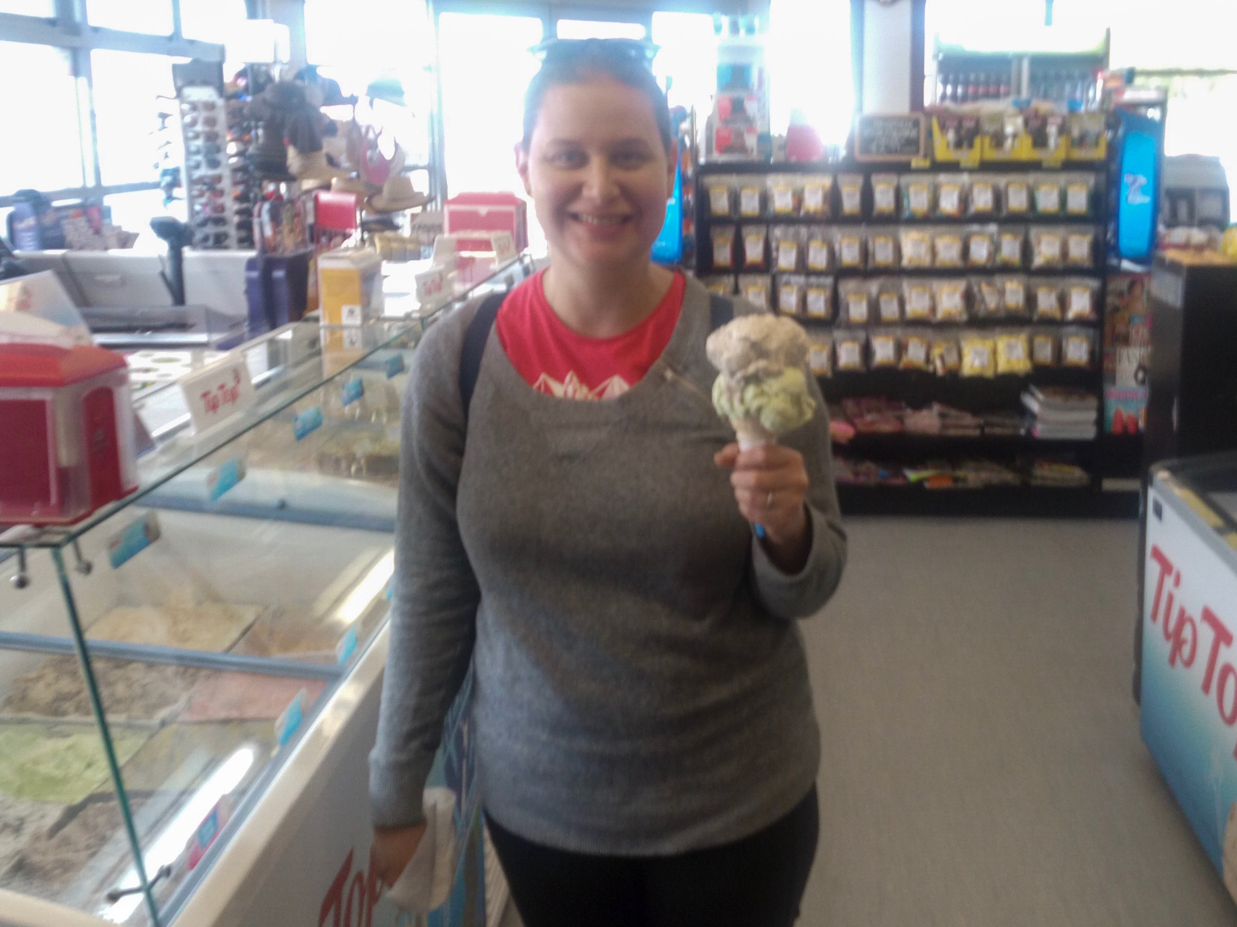 Ice cream from the Four Square, Hampden, New Zealand