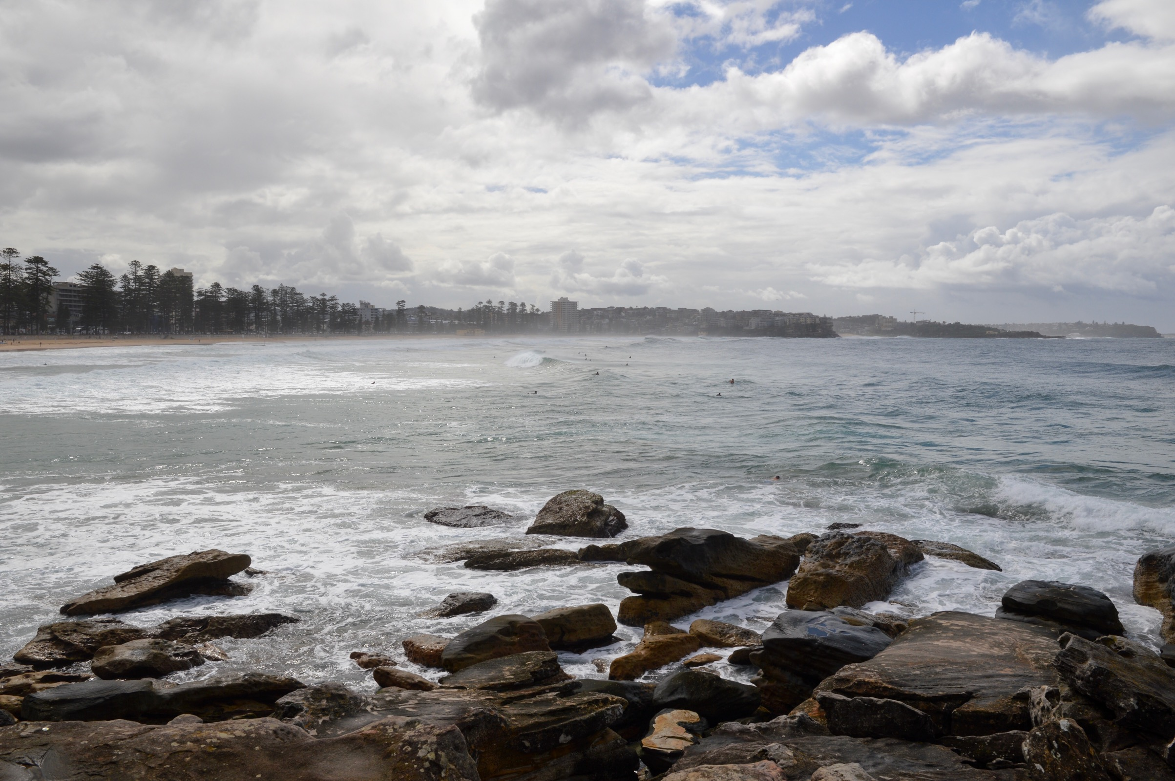 South Pacific Ocean and Manly Beach, Sydney, Australia