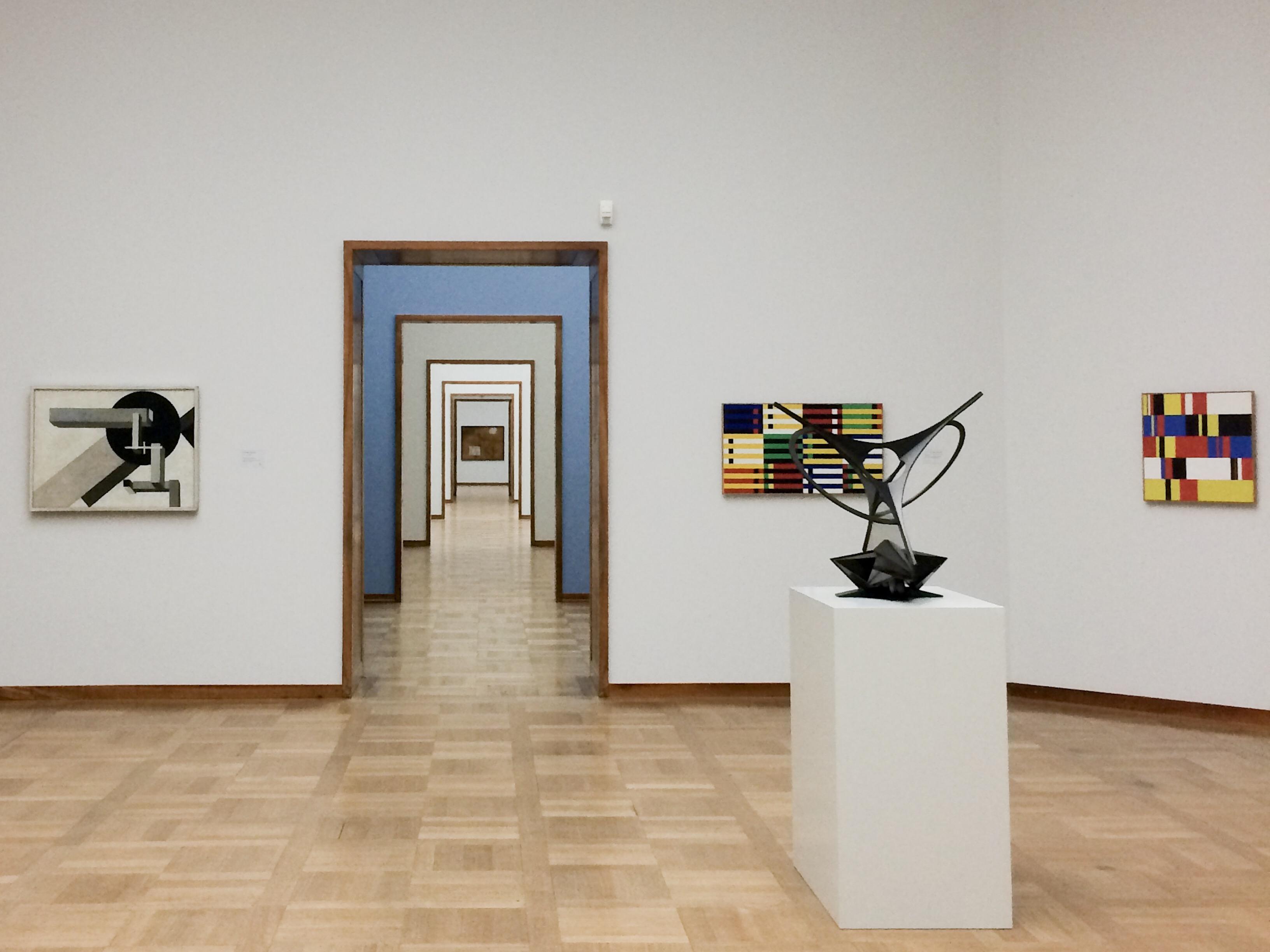 """""""Mondrian"""" kambarys, Kunstmuseum, Bazelis, Šveicarija"""